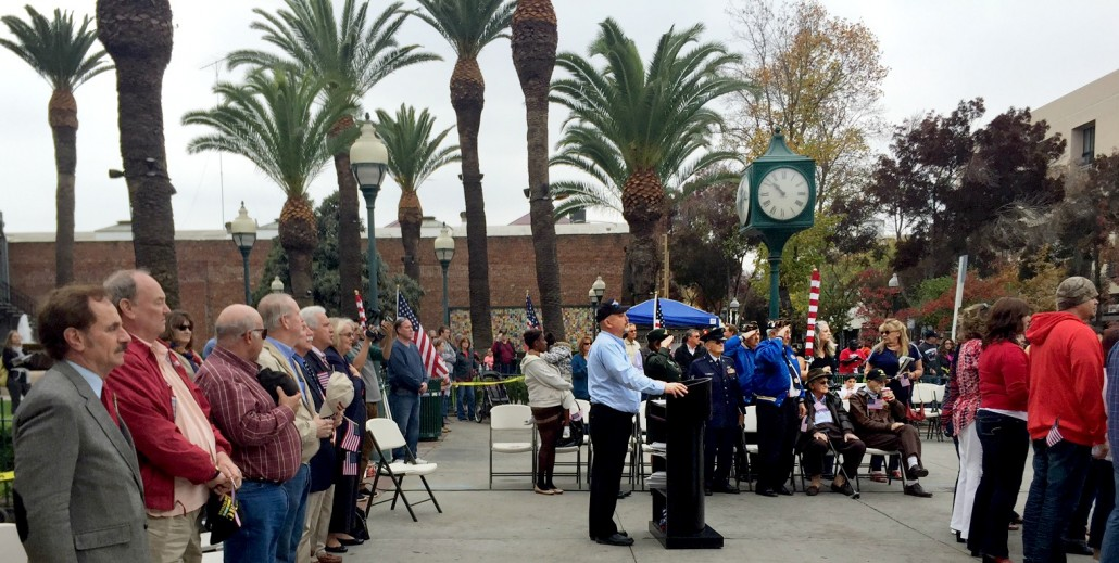 The opening ceremonies of the Veterans' Day parade held yearly in Merced County.